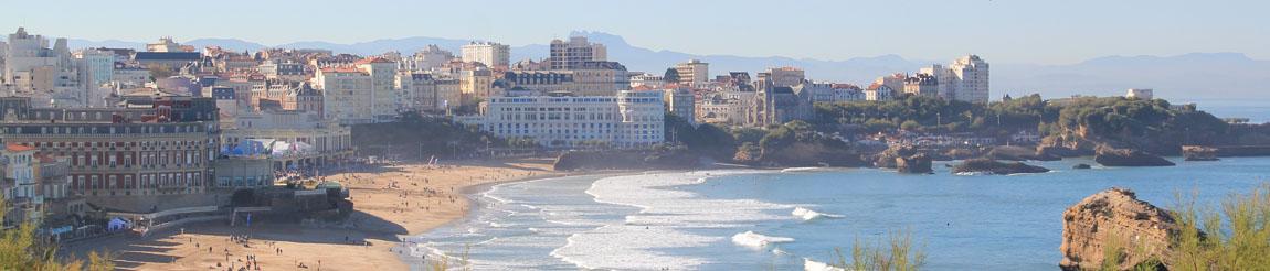 Illustration représentant le panorama de Biarritz pour l'article du blog Démocratie Quotidienne sur l'écologie et l'environnement à Biarritz selon le candidat et maire actuel Michel Veunac
